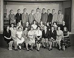 Junior UOL chapter of St. Vladimir parish (Ambridge, Pennsylvania). 1961. (credit: Ukrainian History and Education Center. Metr. Kuschak Memorial Archives)